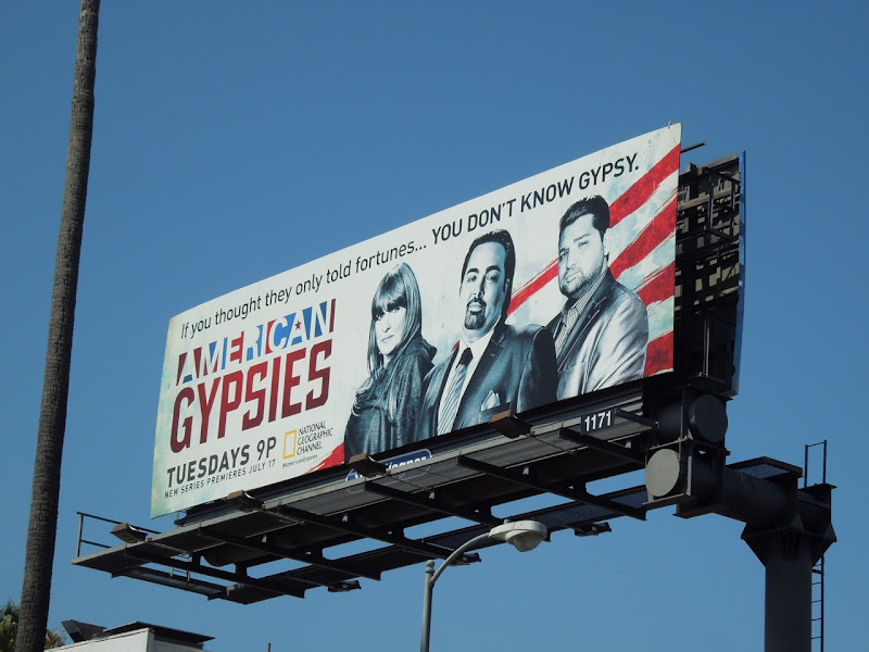 American Gypsies TV billboard