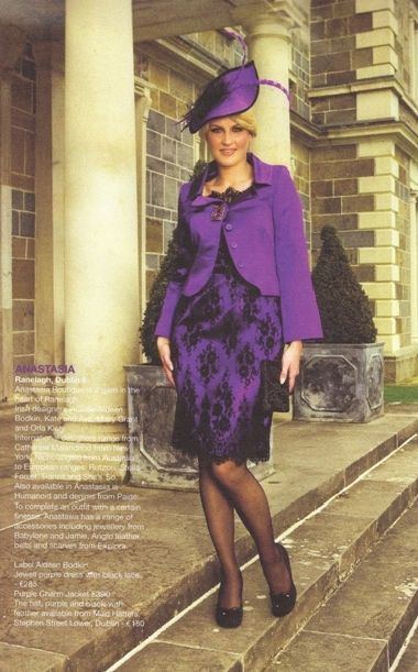 Purple Mother Of The Bride Suit