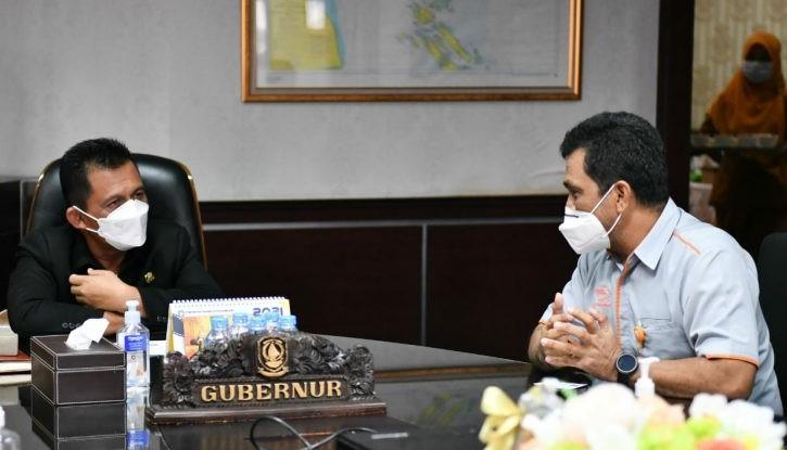 Gubernur Ansar Akan Memilah Mana Yang Berpeluang Untuk kerjasama Dengan  PT Pos Indonesia