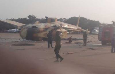 Presidential aircraft Agusta AW 101 handed over to Air Force crashes in Makurdi