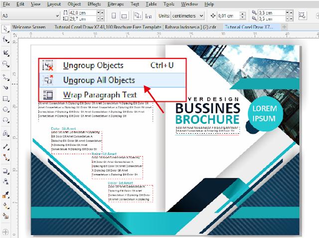 Download Brosur CDR ! Membuat Brosur Dengan CorelDraw 2 Lipat