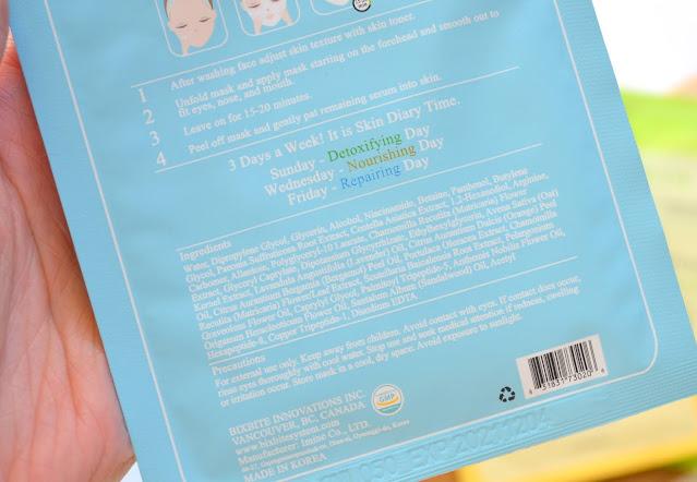 Bix Beauty Skin Diary Weekly Mask Routine