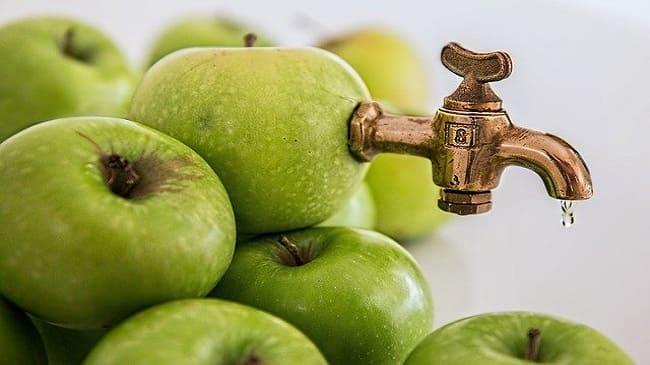 فوائد خل التفاح للمعدة والكولون