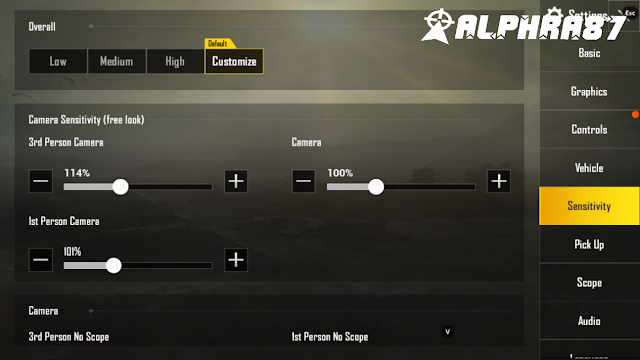 Setting sensitivitas pubg mobile emulator Tencent gaming buddy