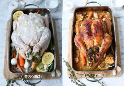Huhn Methode vor und nach