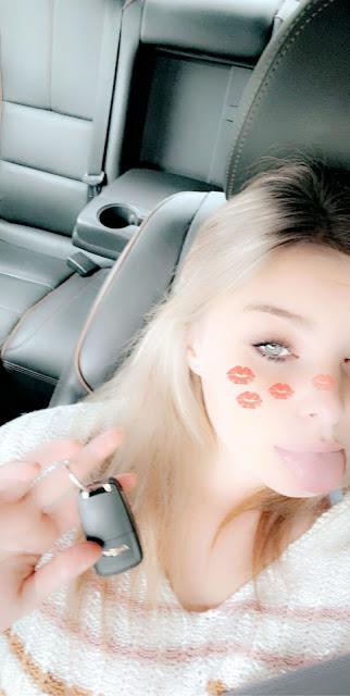 Teen with car fob