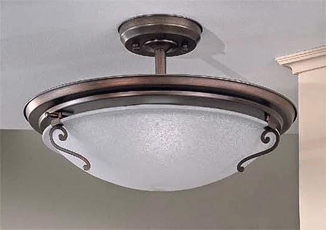 Plafon de seta para iluminacion de techo