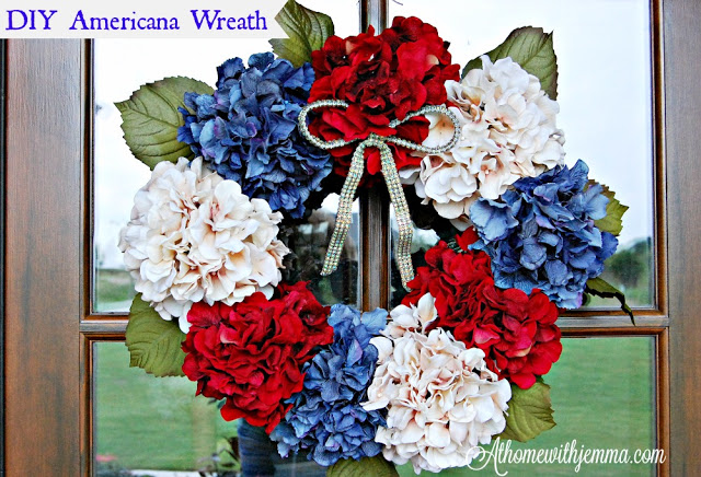 DIY American Wreath For A Patriotic 4th Of July At Home With Jemma