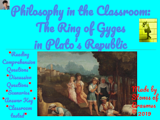 Cover Image of Philosophy in the Classroom: The Ring of Gyges in Plato's Republic
