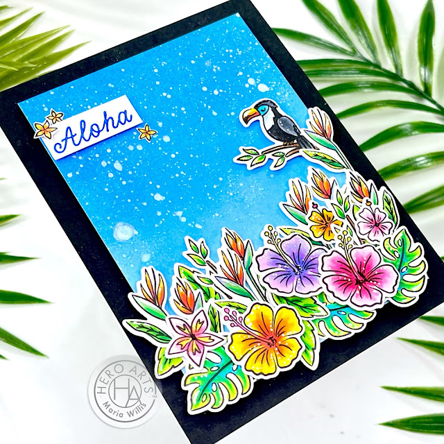 art,cards,color,ink,cardmaking,stamping,papercraft,My Monthly Hero February 2021,Cardbomb,maria willis,paper,diy,handmade,stamps,Hero Arts,