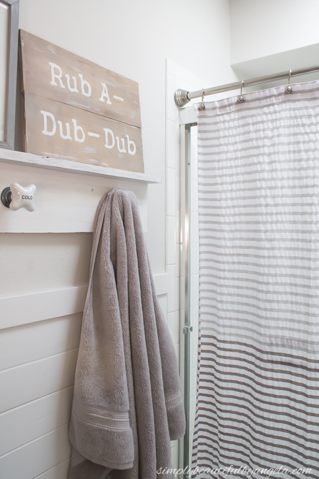 Simply Beautiful by Angela: Neutral Kids Bathroom Makeover