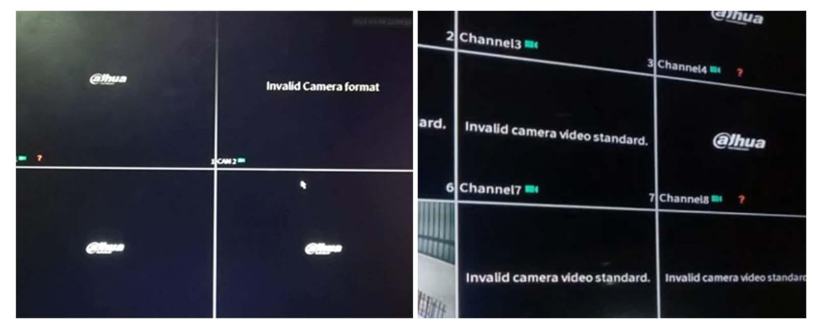 Dahua Invalid Camera Format