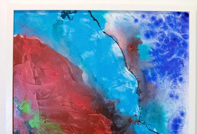 Abstract - mixed media 104.5 x 79.5cm