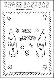 Desenhos sobre volta às aulas