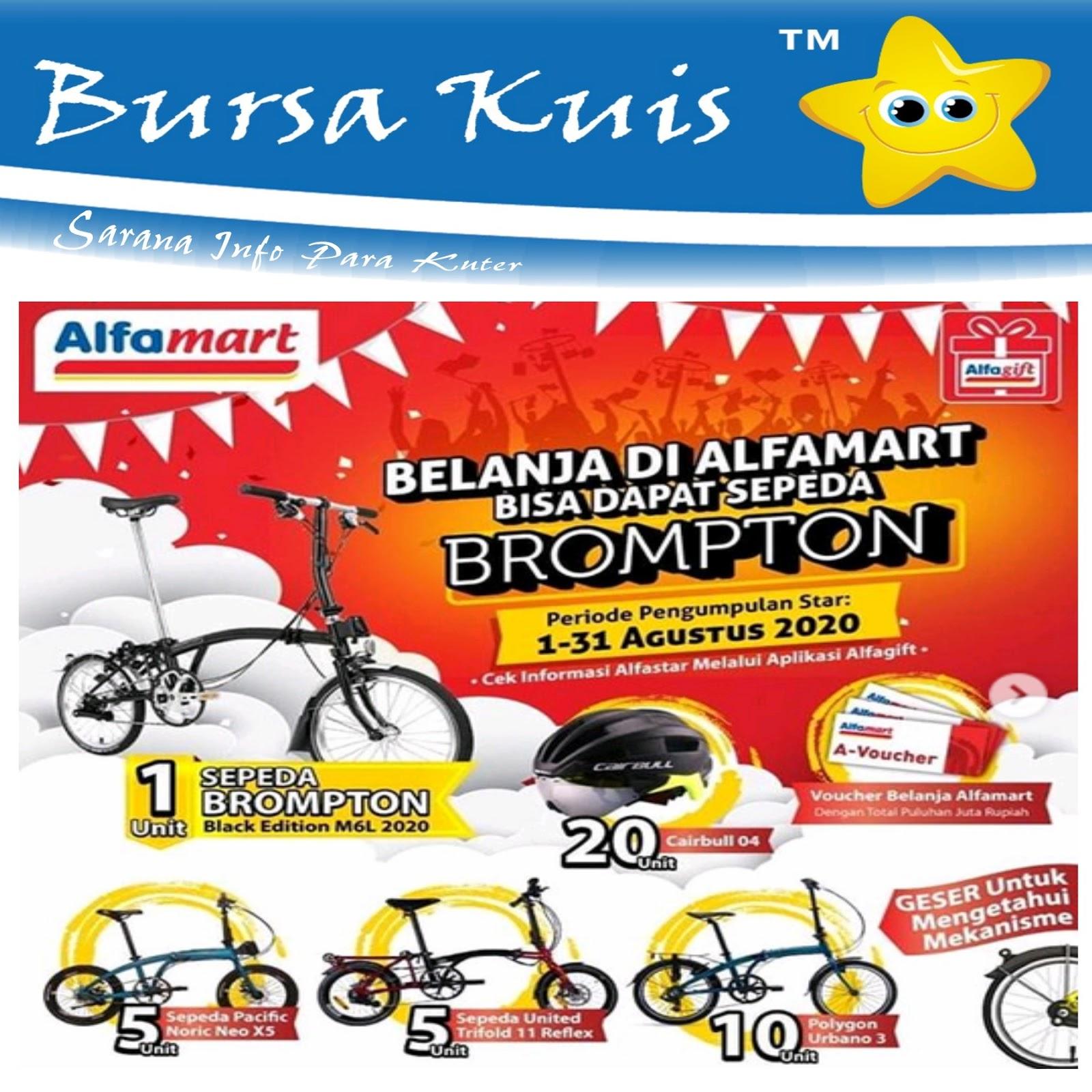 Kuis Promo Belanja Di Alfamart Berhadiah Sepeda Brompton Dan Voucher Belanja Gratis Bursa Kuis Online