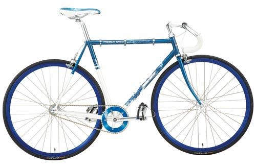 single speed bike blue