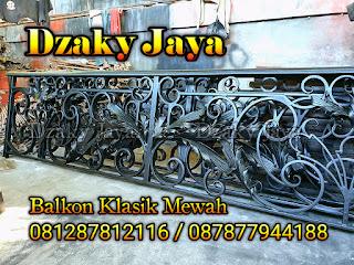 Contoh railing balkon besi tempa modern klasik Dzaky Jaya.