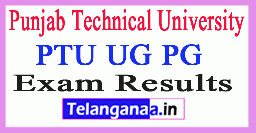 Punjab Technical University Results PTU UG PG Results