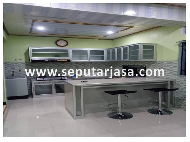 kitchen set gantung aluminium