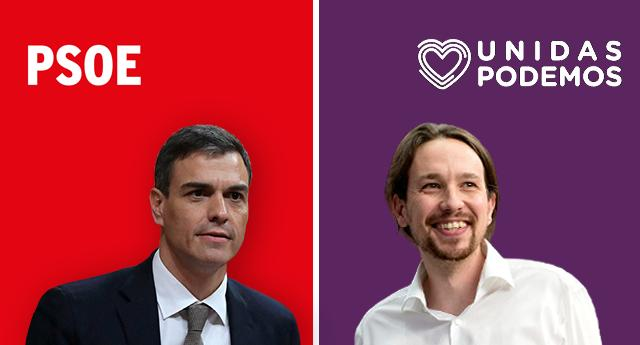 """PSOE y Unidas Podemos firman un """"histórico"""" acuerdo para mejorar la vida de la gente"""