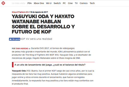 http://latam.ign.com/king-of-fighters-xiv/41251/interview/yasuyuki-oda-y-hayato-watanabe-hablan-sobre-el-desarrollo-y