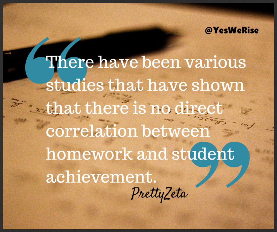 The Homework Debate | Yes, We Rise (education, homework, students, parenting, personal development)