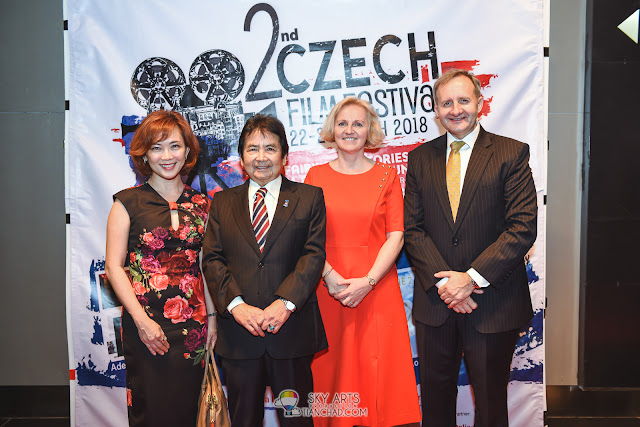 Czech Republic Film Festival 2018 Malaysia Launch @ GSC Pavilion KL GSC CEO Koh Mei Lee, Minister in Prime Minister´s Department, Datuk Joseph Kurup, The Ambassador of the Czech Republic H.E. Rudolf Hykl with his partner