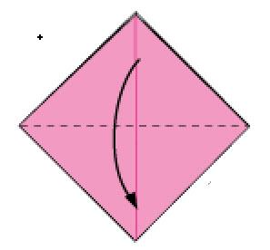 Bước 8: Mở lớp giấy trên cùng xuống phía dưới