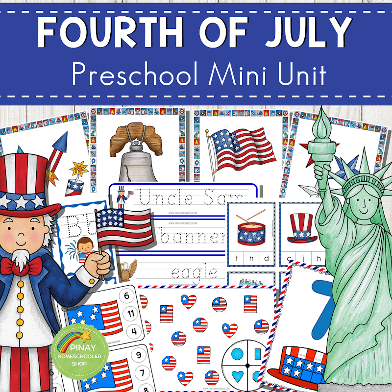 4th of July Math and Literacy Centers