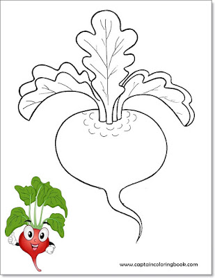 Vegetable coloring pages-6
