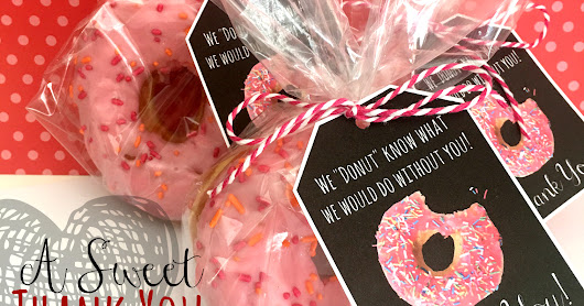 Donut Thank You tags with Free Printable