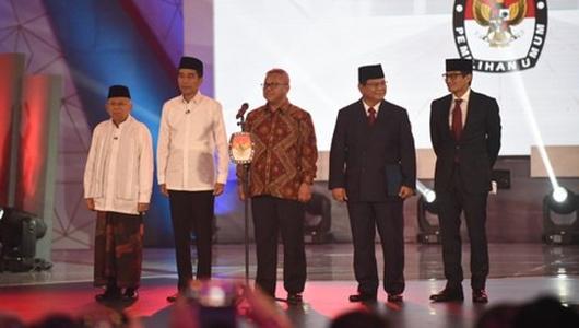 Update Real Count KPU: Jokowi-Maruf 56,15 Persen, Prabowo-Sandi 43,85 Persen