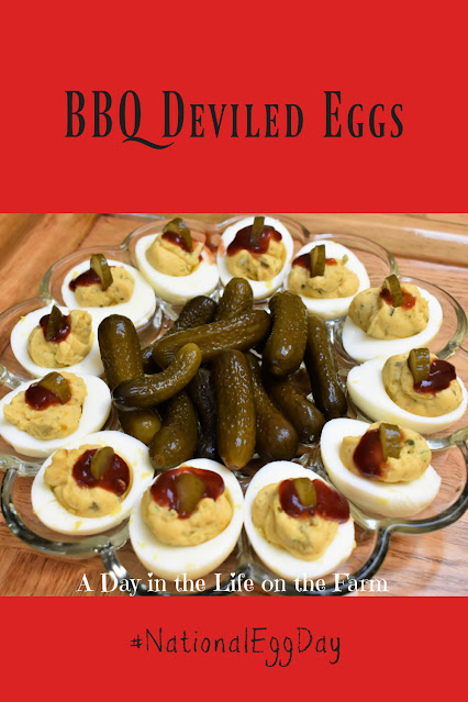 BBQ Deviled Eggs pin