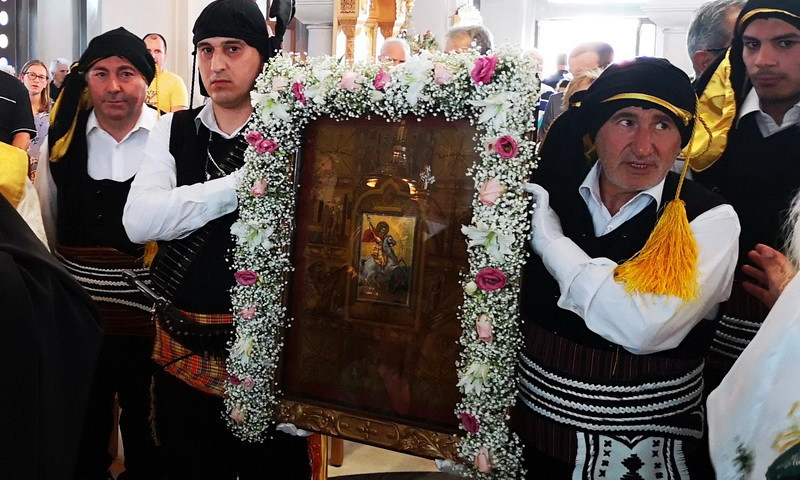 Η Νέα Χηλή Αλεξανδρούπολης υποδέχθηκε την ιστορική εικόνα του Αγίου Γεωργίου Περιστερεώτα