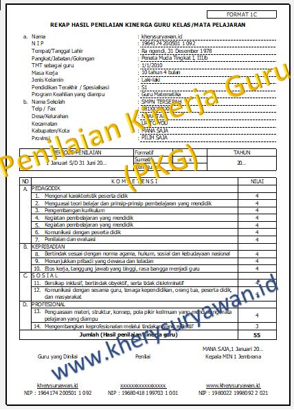 Aplikasi Penilaian Kinerja Guru Pkg Terbaru Tahun 2020 2021 Kherysuryawan Id