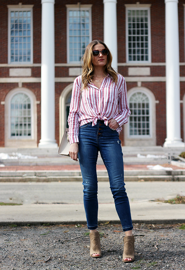 Striped button down Shirt #stripedshirt