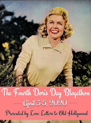 Fourth Doris Day Blogathon Banner - April 3-5, 2020, hosted by Love Letters to Old Hollywood blog