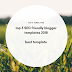 Top 5 SEO friendly blogger templates 2018