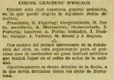 Recorte de El Diluvio, 12/10/1933