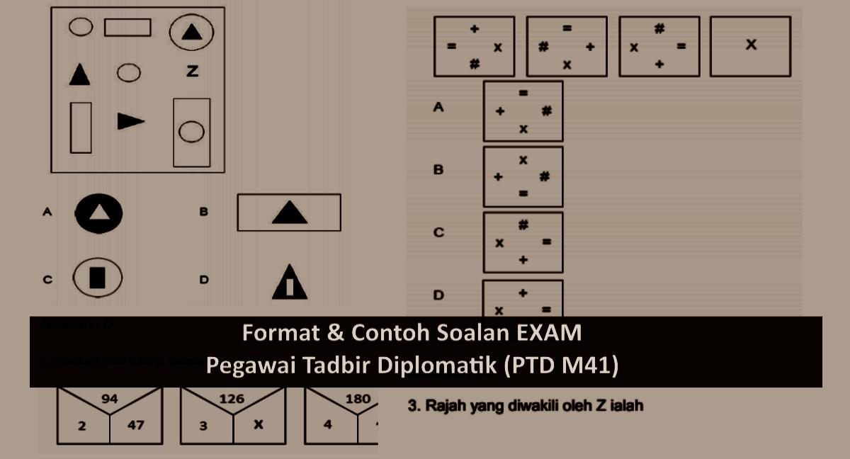 Format & Contoh Soalan Exam Online PTD M41 - Pegawai Tadbir Diplomatik