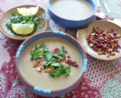 Thai Style Peanut & Sweet Potato Soup