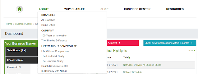 Mari Kenali Website Shaklee: Panduan Untuk Ahli Berdaftar Shaklee   Winichelen Wongkin