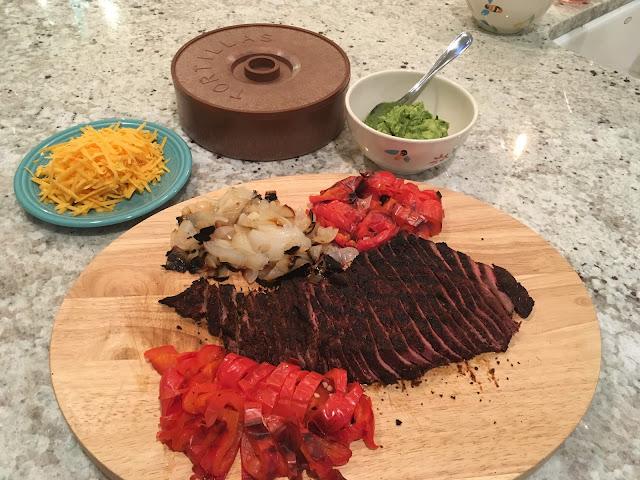 Simple Flank Steak Fajitas | The Lowcountry Lady