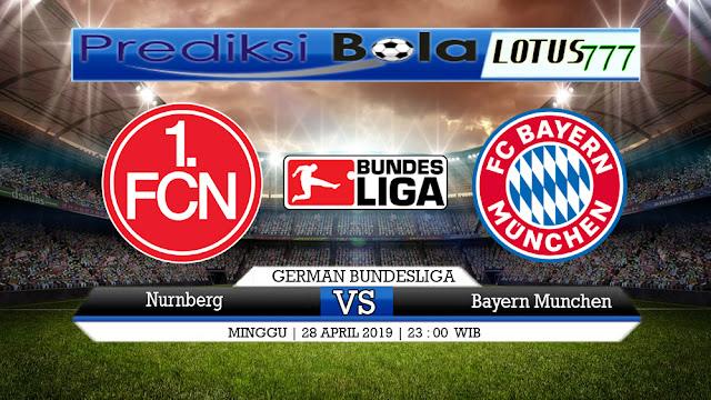 PREDIKSI Nurnberg vs Bayern Munchen 28 APRIL 2019
