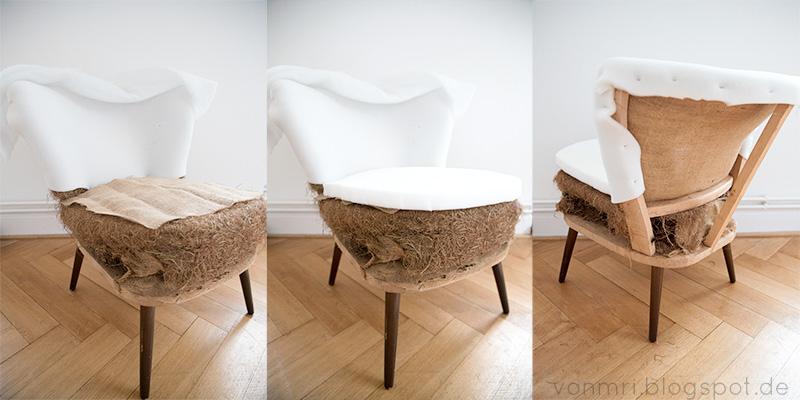 cocktailsessel selbst polstern von mri. Black Bedroom Furniture Sets. Home Design Ideas
