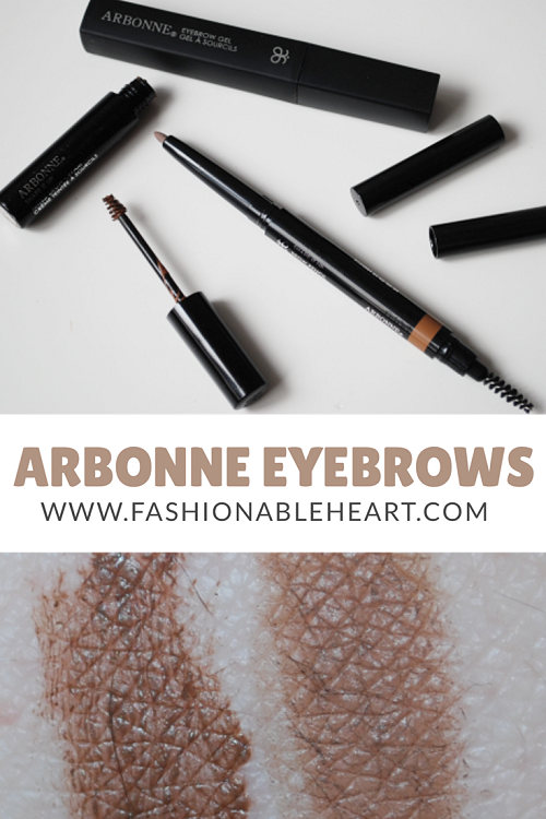 bbloggers, bbloggersca, canadian beauty bloggers, arbonne, arbonne canada, eyebrow gel, shape it up, tinted brow cream, pencil, medium, light, light medium, swatches, review, thoughts