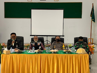 Kapolres Pangkep menghadiri Rapat teknis Pelaksanaan Salat Idul Adha 1441 Hijriah
