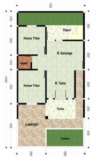 Desain Rumah Minimalis Dengan Denah ruangan Fungsional