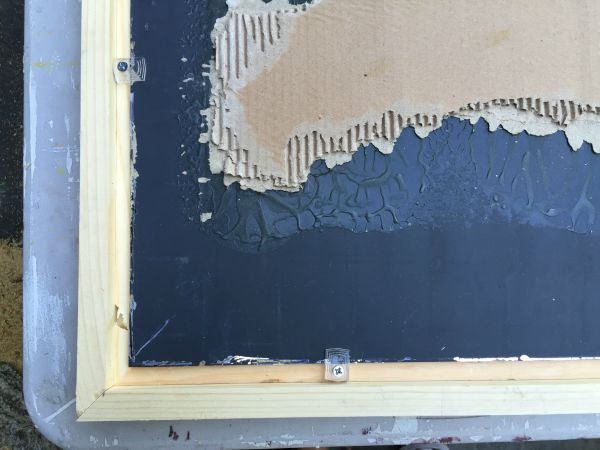 attaching a mirror to simple wood frame using mirror clips