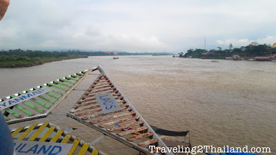 View over the Mekong River at the Golden Triangle - Thailand